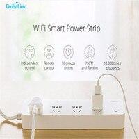 MP1 Broadlink WiFi Tomada Régua De Energia, 4 Soquete Da Extensão Tomada Plug Com UE/EUA/REINO UNIDO/AU Adaptador App Controle Remoto Para Smart Home