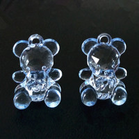 12PCS Baby Shower Decoration First Birthday Party Favor Girl Boy Cute Bear Charm Return Gift Candy