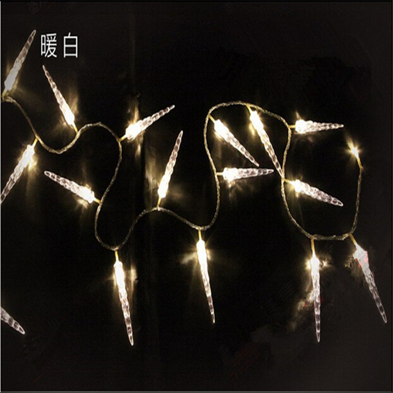 10M 50 LED Icicle String Lights Nytår Christmas Xmas Wedding Party - Ferie belysning - Foto 3