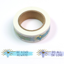 Be King Always  foil washi tape one sentence note Kawaii DIY Scrapbooking Tools Masking Tape