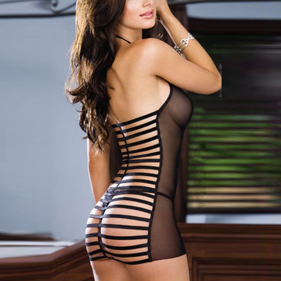 hot women sexy lingerie transparent erotic lingerie mesh sleepwear sexy costumes backless sexy lenceria
