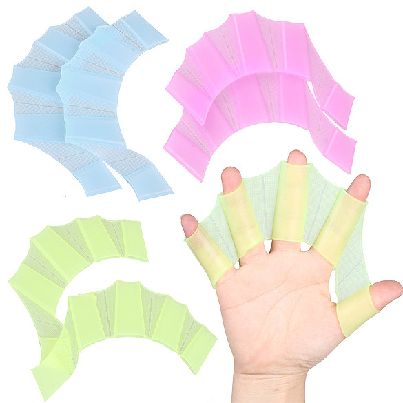 51f5db97f4e4 Swim Gear Fins Hand Web Flippers Silicone Training 1 Pair Gloves Women Men  Kids Webbed Gloves for Swimming Silicone 3 Size S M L