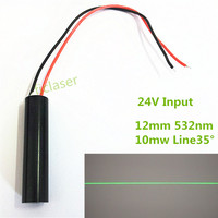 OEN 24V Input 10mW 532nm DPSS Green Line 35 Degree Laser Module Industrial Areas