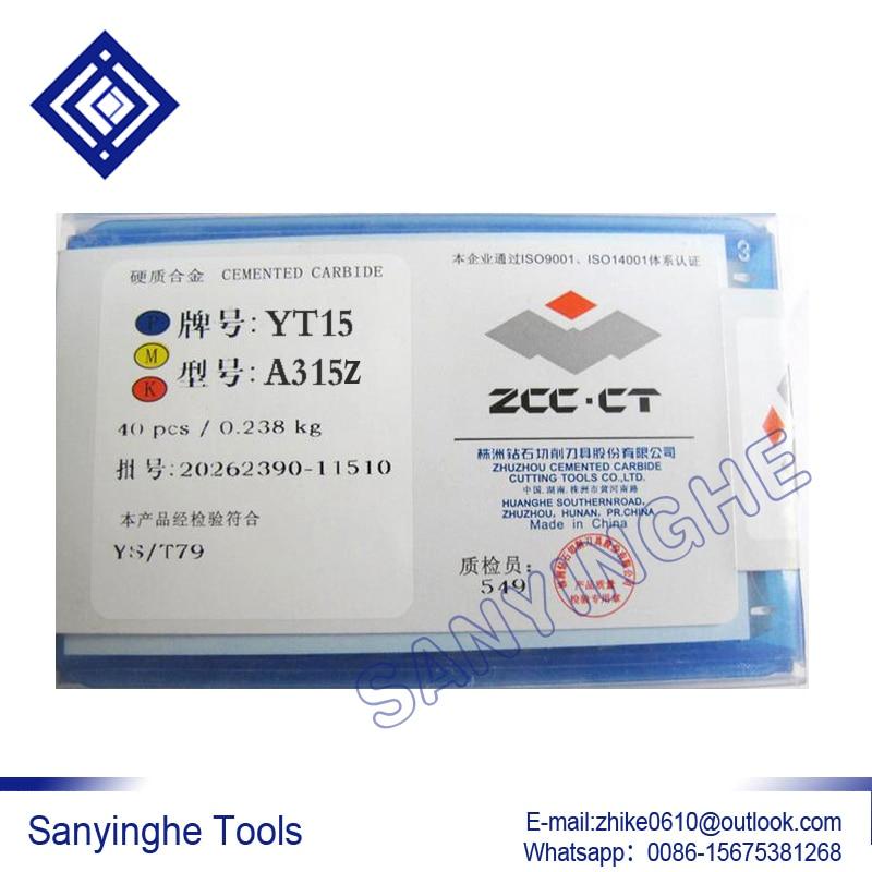 YT15 A315Z ZCC.CT با نام تجاری cnc کاربید چرخش تیغه برنز درج ابزار کاربید تراش خورده (40 عدد / تعداد زیادی)