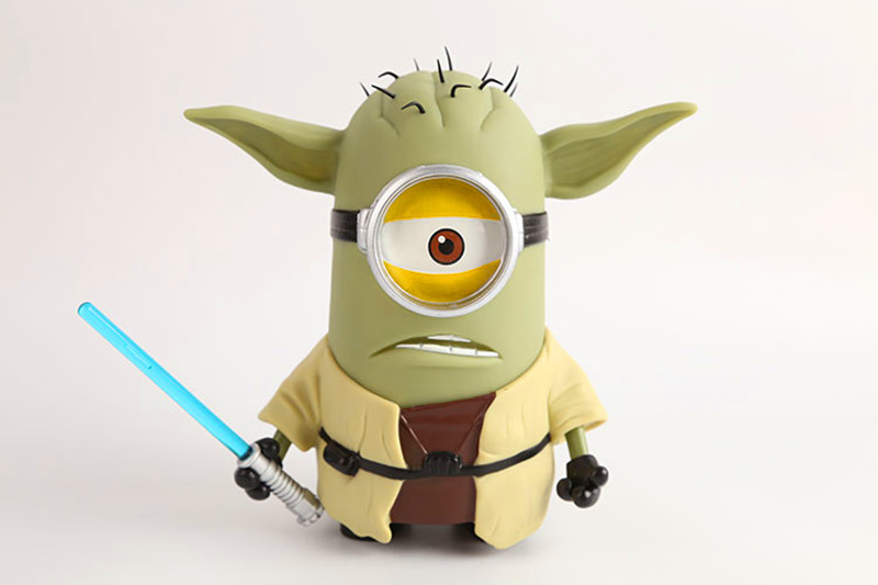 Minions Master Yoda Action Figure Despicable Me Minions Star Wars
