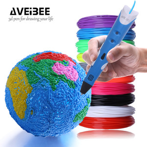Image 3 - 3D Pen Model 3 D Printer Drawing Magic Printing Pens With 100/200M Plastic ABS Filament School Supplies For Kid Birthday Gifts