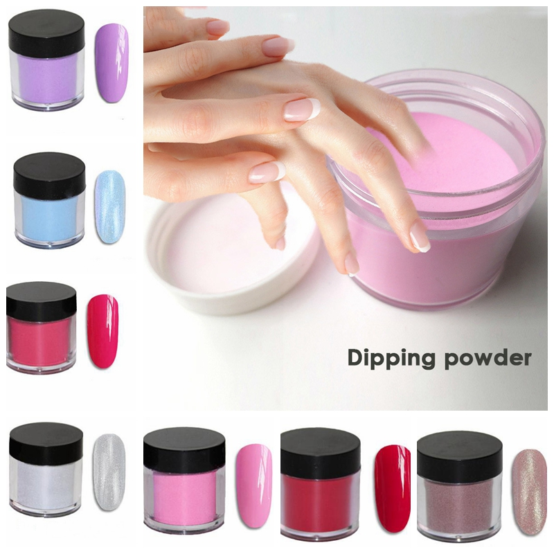 10ml/box Dipping Nail Powder FA46 Glitter Powder Dust 11 Colors DIY Manicure Polish Arcrylic Chrome Powder Pigment For Nail Art