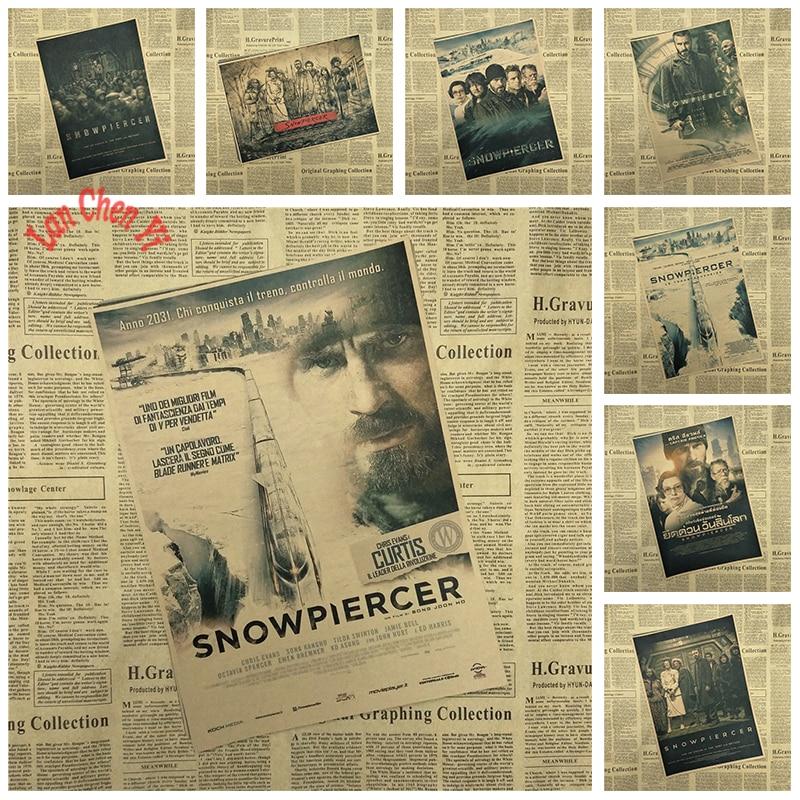 Multiple awards Classic Movie Snowpiercer Kraft Paper Poster Office Gift Room Dining Home Decor wall sticker Design