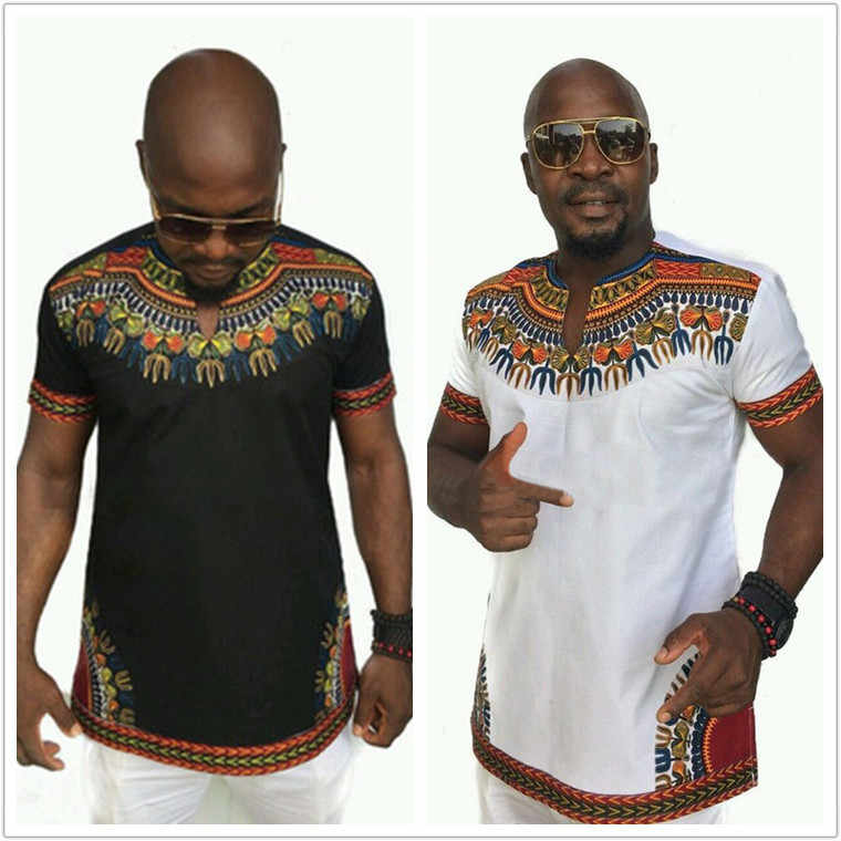 Cheap Fashion Design Classic Print Male Africa T Shirts Dashiki Tops Men Traditional African Clothing Black White Aliexpress