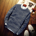 Autumn Winter Long Sleeve Slim Fit Round Neck Solid Sweaters S313 Christmas Sweater Men Pullover Men Male Sweater