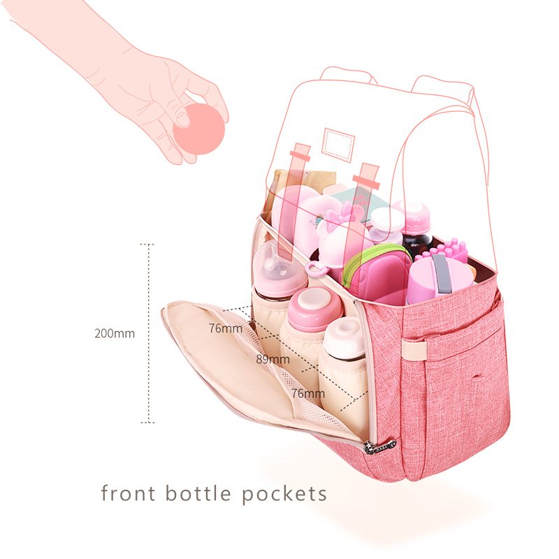SUNVENO nouveau sac à couches mode sac à dos grande capacité bébé sac Nappy sac pour les soins de bébé - 6