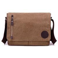 Холст Повседневное & Бизнес Для мужчин сумка-мессенджер через плечо; сумка через плечо сумки на молнии клапаном A4 Flie пакет для портативного ...