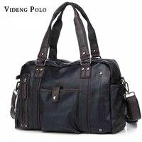 VIDEG POLO Men Handbags Men S Casual Tote Vintage Shoulder Bag Business Laptop Briefcase For Men
