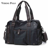 VIDEG POLO Men Handbags Men S Casual Tote Vintage Shoulder Bag Business Laptop Briefcase For Men
