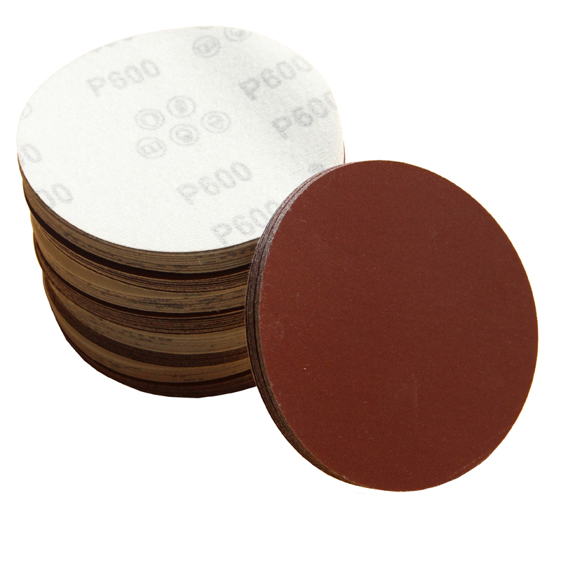 """5/"""" Inch 5 Sandpaper Disks P600 Grit Peel and Stick Adhesive Abrasive Sand Paper"""