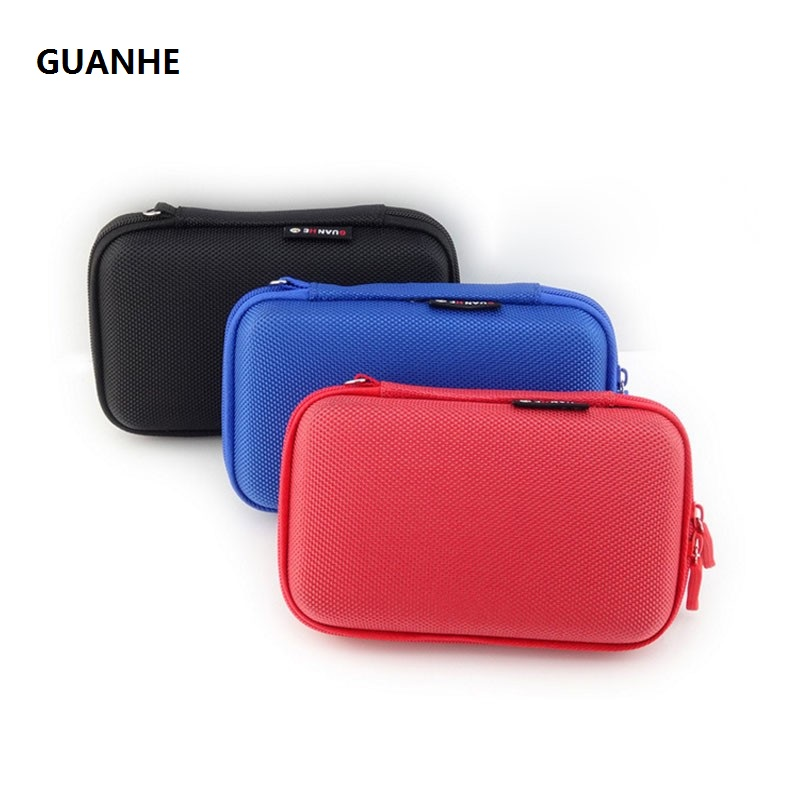 GUANHE 2.5 inch SSD HDD Cable Organizer Bag USB Flash Drive Storage Mini Case one set travel System Kit