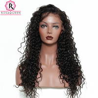 Rosa Queen 250 Density Lace Front Human Hair Wigs For Black Women Deep Wave Brazilian Remy