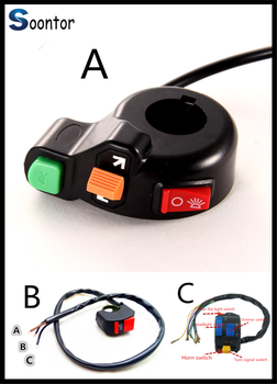 Switch Horn Turn Signals On/Off Light 12V Motorbike niversal Motorcycle for HONDA CR80R 85R CRF150R CR125R 250R CRF250R CBR125R image