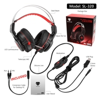 USB PS4 Gaming Headset Deep Bass Game Headphone Best Casque Gamer With Microphone LED Light Headphones