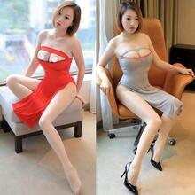 Сексуальное женское кружевное платье с вырезами и открытым бюстом