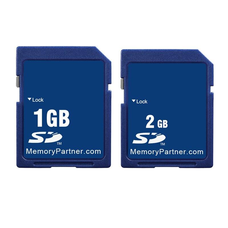 10 pçs/lote 1 GB GB Preço de Atacado Padrão de Cartão SD SD 1 2 GB 2 GB de Memória Secure Digital Flash cartão Tarjeta Carte Frete Grátis Novo