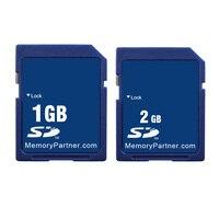 10PCS/LOT 1GB 2GB Wholesale Price Standard SD Card SD 1 GB 2 GB Secure Digital Flash Memory Card Tarjeta Carte Free Shipping New