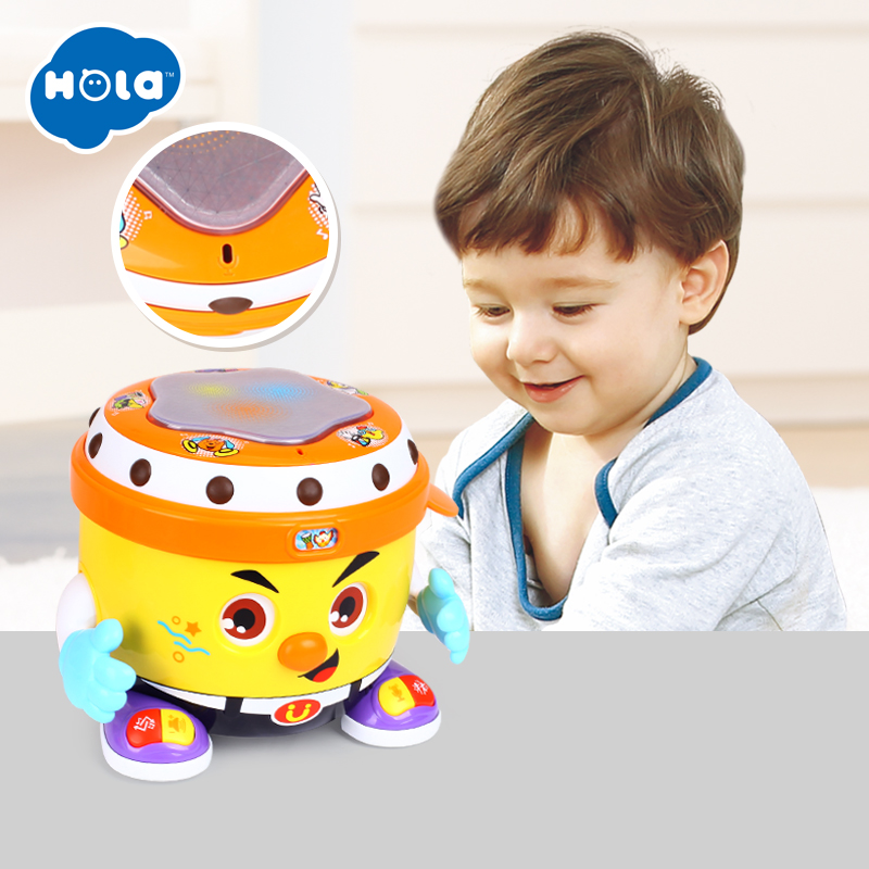 HOLA 6107 bébé jouet DJ fête tambour jouet avec musique et lumière apprentissage jouets éducatifs pour les enfants - 2