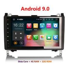 Erisin ES7901B 9 дюймов Android 9,0 Восьмиядерный 4 Гб ram Автомобильный мультимедийный плеер Радио BT для Sprinter Viano Vito