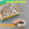 2 PCS Volume de Ouvir Aparelhos Auditivos Amplificador de Som Voz Tom Ajustável aparelho auditivo AXON F-138 aparelhos auditivos para surdos