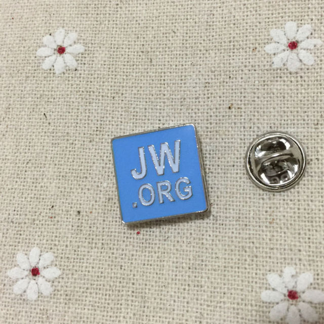 ac30ac0d7559 Promotion New Arrival Blue Jw.org Religious Lapel Pin Badges Enamel Brooch  Metal Craft Pins Soviet Badge Gifts