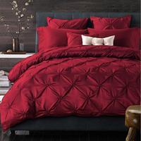 Роскошный 100% хлопок 4 шт наборы постельных пренадлежностей украшение для домашнего праздника Текстиль для дома свадьбные постельные компл