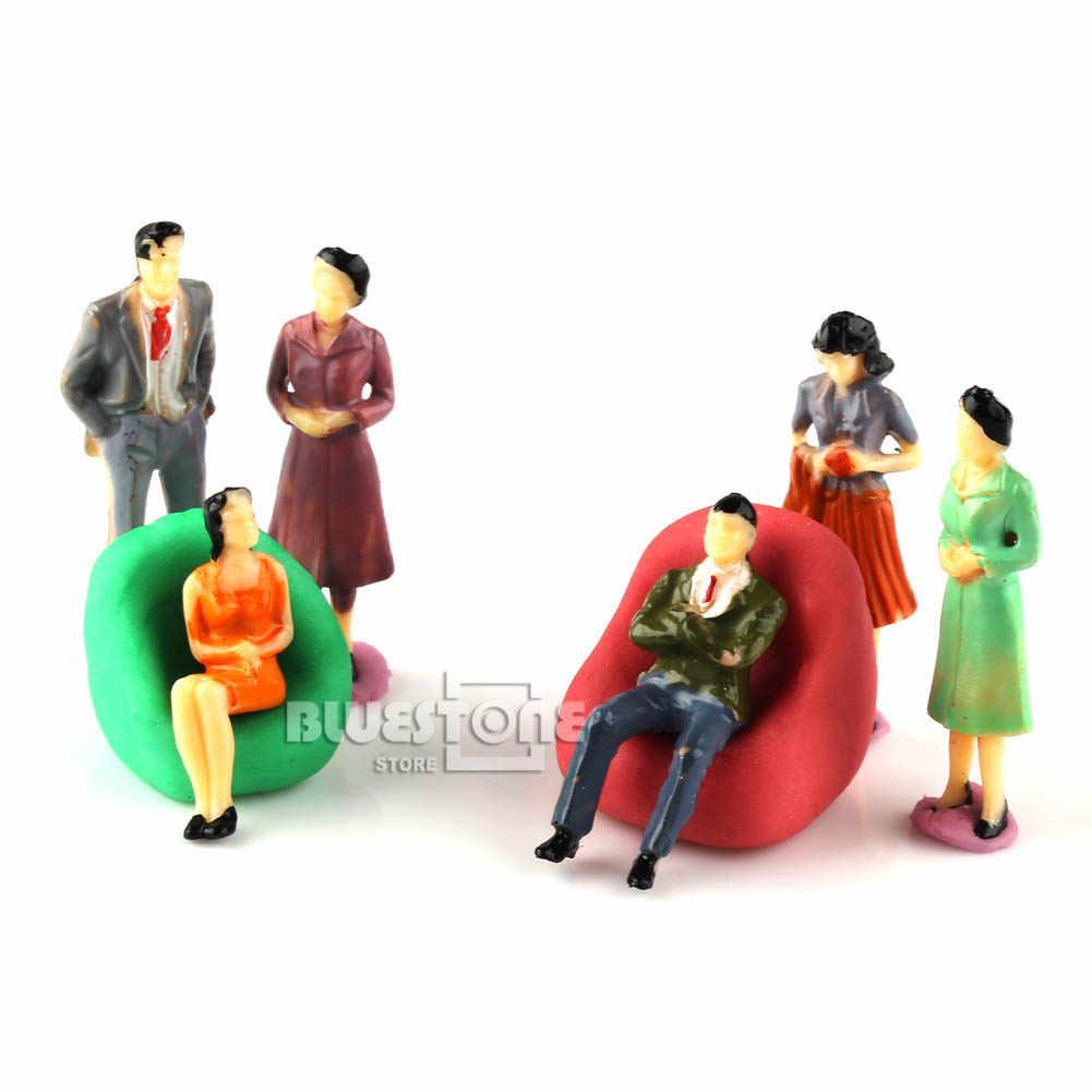 100 Model ludzie figury Passenegers pejzaż z pociągiem 1:50 O skali mieszane kolor stanowią