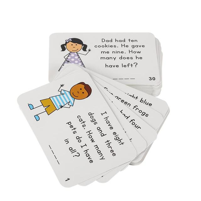 72Pcs/Set English Sentences Flash Card Answer Sheet Question Kids