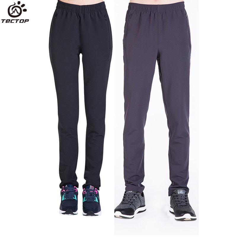 Tectop Autumn Winter High Elastic Hiking Pants Men and Women Running Trousers Outdoor Quick Drying Pant