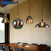 KARWEN Vintage Pendant Lights Glass Lamp Loft Nordic Hang Lamp Loft Kitchen Dining Pendant Dinning Room Bedroom Kitchen E27