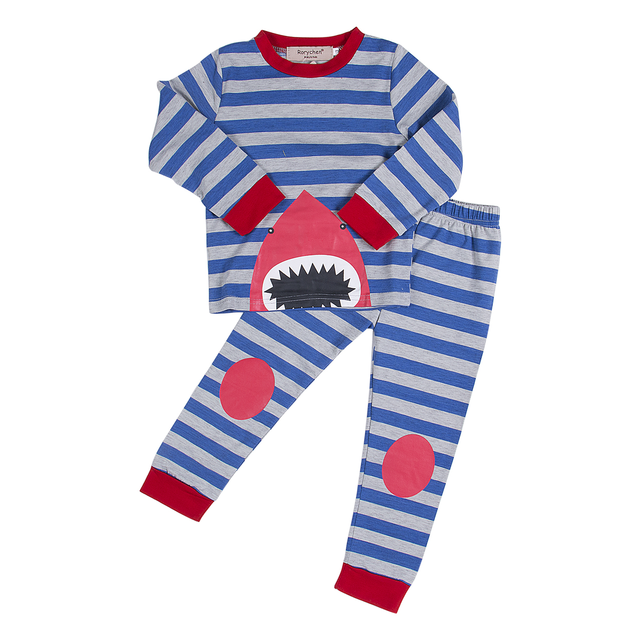 online buy whole boys shark pajamas from boys shark toddler kids striped shark sleepwear girls boys baby cute shark pajamas set sleepwear nightwear striped
