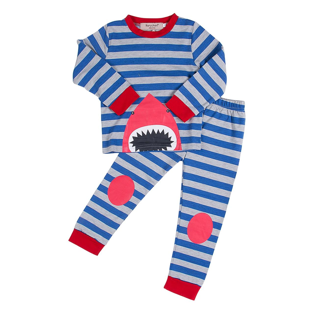 online buy whole boys shark pajamas from boys shark toddler kids striped shark sleepwear girls boys baby cute shark pajamas set sleepwear nightwear striped