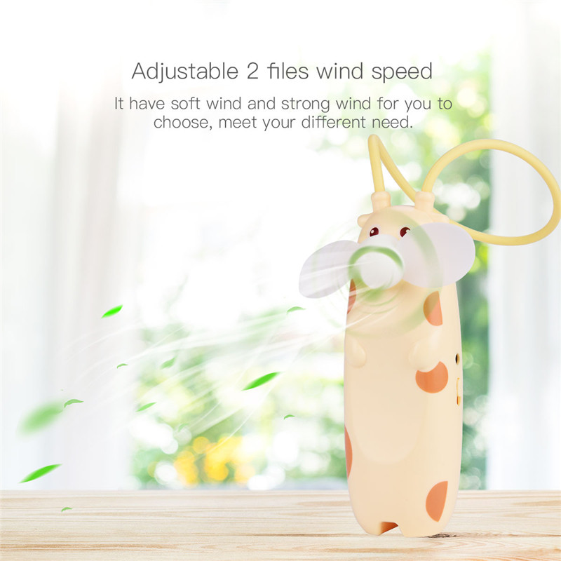 Super Mute Portable Mini Fan USB Rechargeable Air Cooling Handheld Fan Cartoon Electric Personal Fan Ventilator For Travel Home handheld cartoon mini fan usb portable fan for home outdoor desk rechargeable air conditioner with 1200ma rechargeable battery
