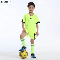 Football Jerseys Kids Survetement Football 2017 Customized Soccer Uniforms Youth Football Kits Soccer Set Tracksuits New
