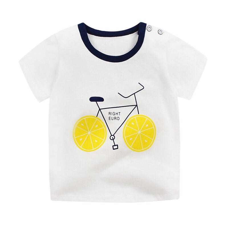 Unini-yun  camisa das meninas t Crianças roupas de manga curta Infantil  roupas de verão crianças tops t da criança Recém-nascidos do bebê Tops 6M2t ae6523a0e9926