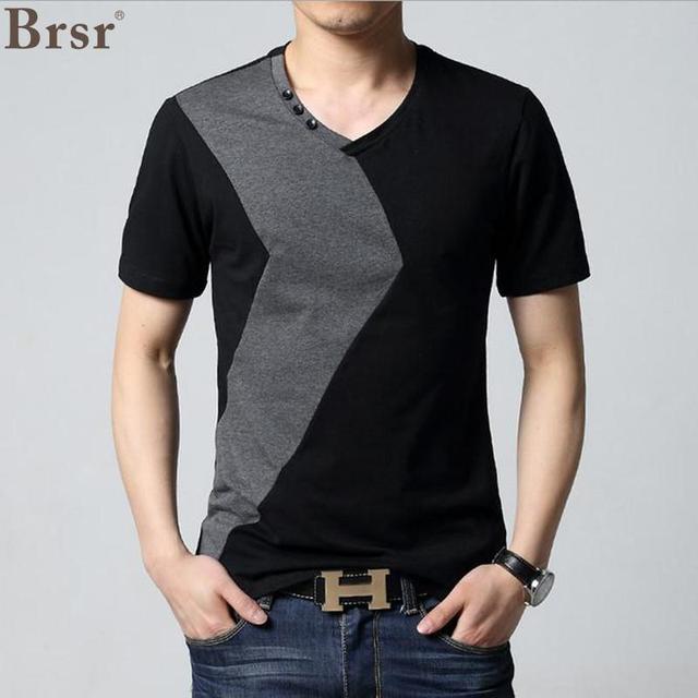 Neck T-shirt Men Short Sleeve