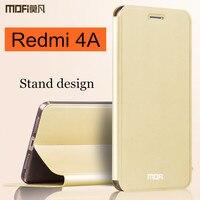 Xiaomi Redmi 4A Case Flip MOFi Original Redmi 4A Case Silicon Back Cover Leather Fundas Red