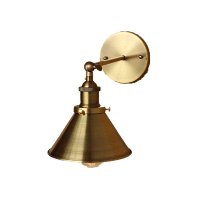Américain minimaliste industrielle style rétro or bronze décoration vieux couloirs avant le miroir mur lampe loft