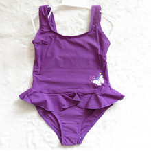 2018 Brand New Toddler Infant Kid Baby Child Girl Bathing Swimwear printing One Pieces swimming Suit Floral skirt purple child