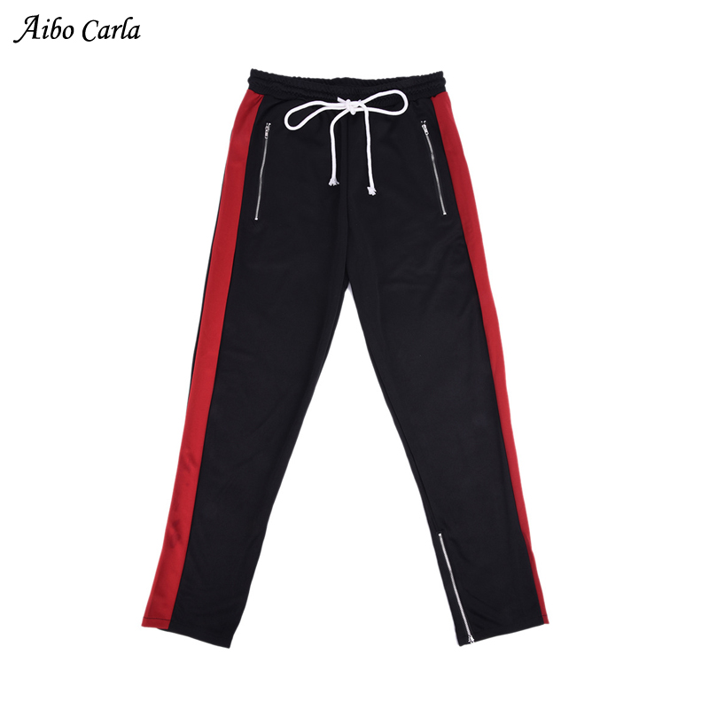 2018 Mens Zipper Pocket And Ankle Zip Track Pants 6 Colors