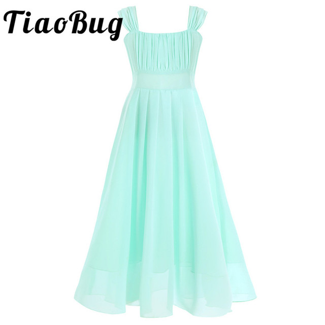 Girls Wedding Party Bridesmaid Floral Flower Dresses Ball Gown Prom ...