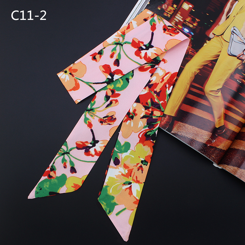 Bag Scarf Print Silk Scarf Women Small Bag Ribbon Fashion Female Hair Ribbons Fashion Handbag Scarves Fashion cuello bufanda in Women 39 s Scarves from Apparel Accessories