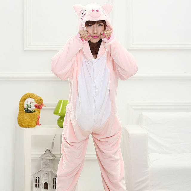 87a154e560 Online Shop Funny Whole Pajamas Adults Sloth Onesies Flannel Kigurumi Pink  Mcdull One-Piece Sleepwear Cute Home Jumpsuit Women s Pyjama