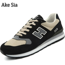 Ake Sia Hombre Men's Spring Autumn Fashion Trendy Casual Breathable Jogging Sneakers Male Hombre Flat Sapatos Zapatos Shoes F089