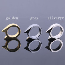 3 color Mini Alloy Defensive Ring Self Defense Weapons Broken Windows Device Rescue Gear Portable Survival Ring